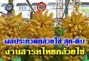ผลประกวดกล้วยไข่ สุก-ดิบ งานสารทไทยกล้วยไข่ 2563